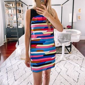 Laundry by Shelli Segal Multi-Colored Shift Dress